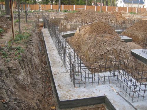 Строительство ленточного бетонного фундамента